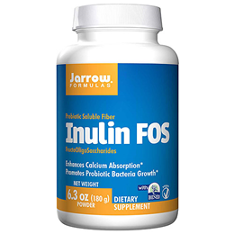 Jarrow Formulas Inulin FOS - Prebiotic Soluble Fibre - 180g Powder - Best before date is 30th April 2018