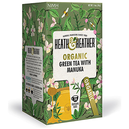Heath & Heather Organic Green Tea & Manuka - 20 Bags