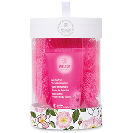 Weleda Wild Rose Creamy Body Wash + Scrunchie Gift Pack