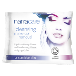 Natracare Organic Cleansing Make-Up Removal Wipes - 20 Wipes