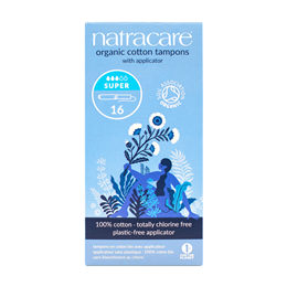 Natracare Organic Applicator Tampons - Super - 16 Pack