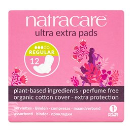 Natracare Organic Ultra Extra Pads With Wings - Normal - 12 Pack