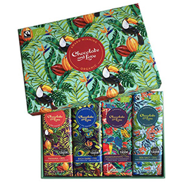 Chocolate and Love Panama Gift Box - 4 x 40g Bars