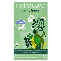 Natracare Organic Panty Liners - Mini - 30 Pack