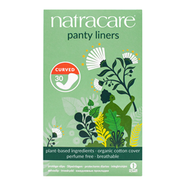 Natracare Organic Panty Liners - Curved - 30 Pack