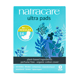 Natracare Organic Ultra Pads With Wings - Regular - 14 Pack