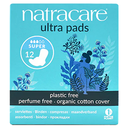 Natracare Organic Ultra Pads With Wings - Super - 12 Pack