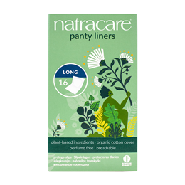 Natracare Organic Wrapped Panty Liners - Long - 16 Pack