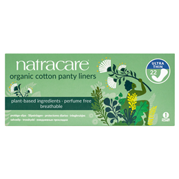 Natracare Organic Panty Liners - Ultra Thin - 22 Pack