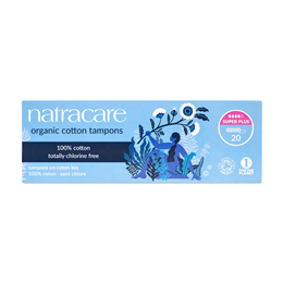 Natracare Organic Tampons - Super Plus - 20 Pack