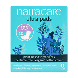 Natracare Organic Ultra Pads With Wings - Long - 10 Pack