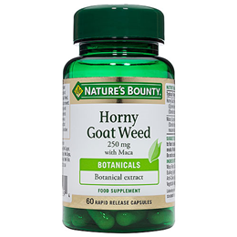 Nature`s Bounty Horny Goat Weed 250mg with Maca - 60 Capsules