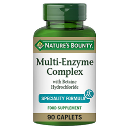 Nature`s Bounty Multi-Digestive Enzyme with Betaine Hydrochloride - 90 Caps