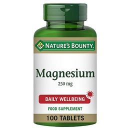 Nature`s Bounty Magnesium - 100 x 250mg Tablets