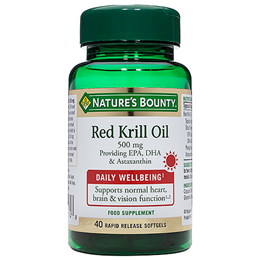 Nature`s Bounty Red Krill Oil - 40 x 500mg Softgels