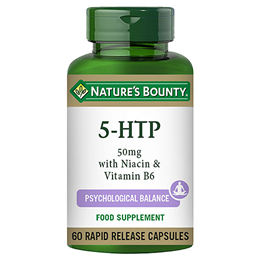 Nature`s Bounty 5 HTP 50mg with Niacin & Vitamin B6 - 60 Capsules