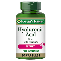 Nature`s Bounty Hyaluronic Acid 20mg with Vitamin C - 30 Capsules