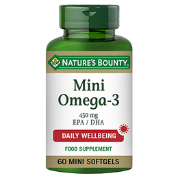 Nature`s Bounty Mini Omega-3 - 60 x 450mg Mini Softgels