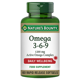 Nature`s Bounty Omega 3-6-9 - 60 x 1200mg Softgels