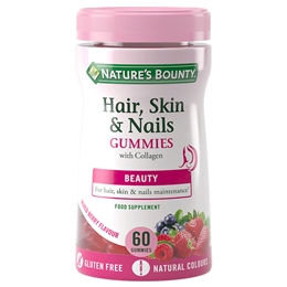 Nature`s Bounty Hair, Skin and Nails - 60 Gummies - Best before date is 30th June 2019