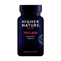 Higher Nature Folic Acid - Vitamin B9 - 90 x 400mcg Tablets