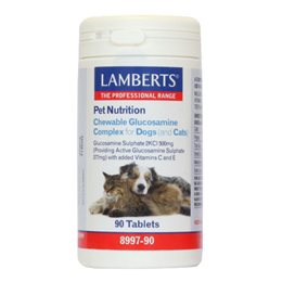 LAMBERTS Chewable Glucosamine Complex for Dogs and Cats - 90 Tablets