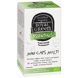 Royal Green Mini Caps Multi - 90 Vegicaps - Best before date is 22nd May 2019