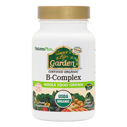 Nature`s Plus Source of Life Garden Organic B Complex - 60 Capsules