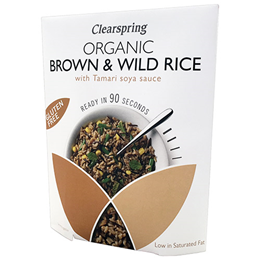Clearspring Organic Brown & Wild Rice with Tamari Soya Sauce - 250g