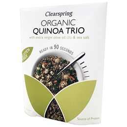 Clearspring Organic Quinoa Trio with Extra Virgin Olive Oil & Sea Salt - 250g