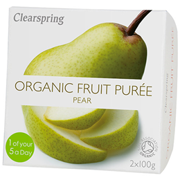 Clearspring Organic Fruit Purée - Pear - 2 x 100g