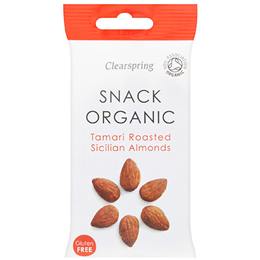 Clearspring Organic Tamari Roasted Sicilian Almonds - 30g