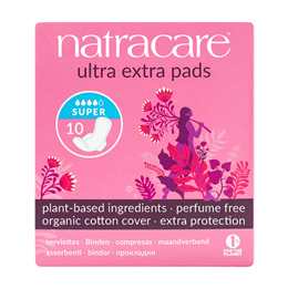 Natracare Organic Ultra Extra Pads With Wings (Super) - 10 Pack
