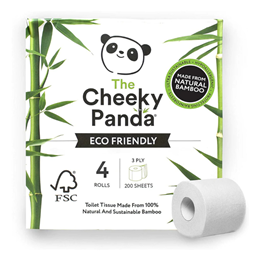 The Cheeky Panda Eco-Friendly Toilet Tissue - 4 Rolls