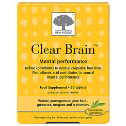 New Nordic Clear Brain - Mental Performance - 60 Tablets