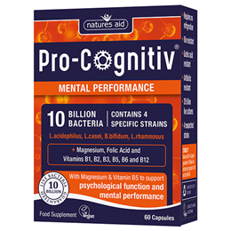 Natures Aid Pro-Cognitiv - Mental Performance - 60 Capsules