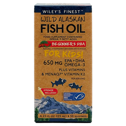 Wiley`s Finest Wild Alaskan Fish Oil Beginner`s DHA for Kids - 125ml