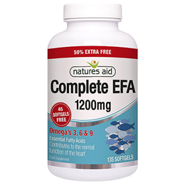 Natures Aid Complete EFA - 50% EXTRA FREE 90+45 x 1200mg Softgels