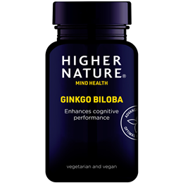 Higher Nature Ginkgo Biloba - For Senior Moments - 30 x 120mg Tablets