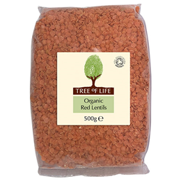 Tree of Life Organic Red Lentils - 500g