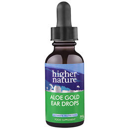 Higher Nature Aloe Gold Herbal Ear Drops - 30ml
