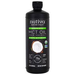 Nutiva Organic Unflavoured MCT Oil 93% - 946ml