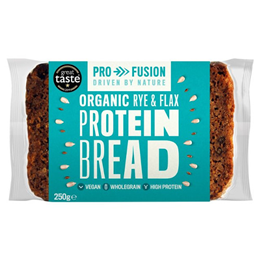 Profusion Protein Bread - Organic Rye & Flax - 250g