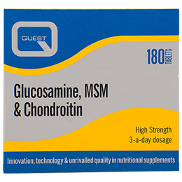 Quest Glucosamine, MSM & Chondroitin - Twin Pack - 2 x 90 Tablets
