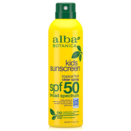 Alba Botanica Kids Sunscreen Tropical Fruit Clear Spray - SPF 50 - 177ml