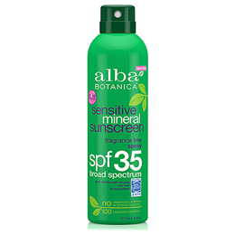 Alba Botanica Sensitive Mineral Sunscreen Fragrance Free Spray - SPF 35 - 177ml