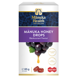 Manuka Health MGO 400+ Manuka Honey Lozenges Blackcurrant - 15 Pack