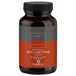 TERRANOVA Natural Beta Carotene Complex - 50 Vegicaps