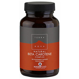 TERRANOVA Natural Beta Carotene Complex - 100 Vegicaps
