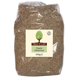 Tree of Life Organic Wheat Bran - 500g - Best before date is 30th November 2019